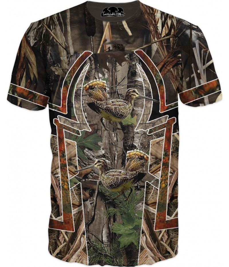 Тениска - ловна с пилета в камуфлаж