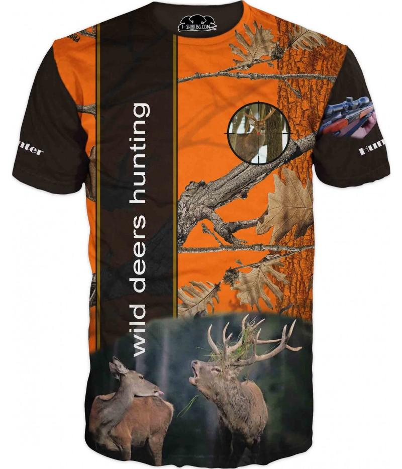 Ловна тениска - два елена