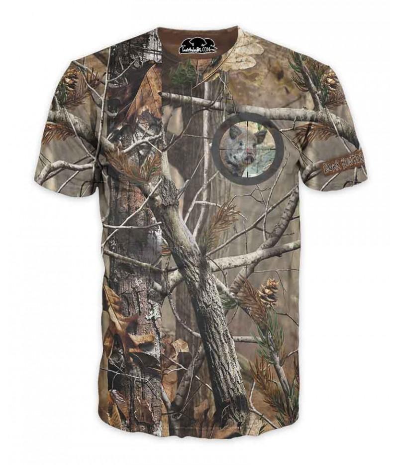 Ловна тениска-камуфлаж с емблема на глиган