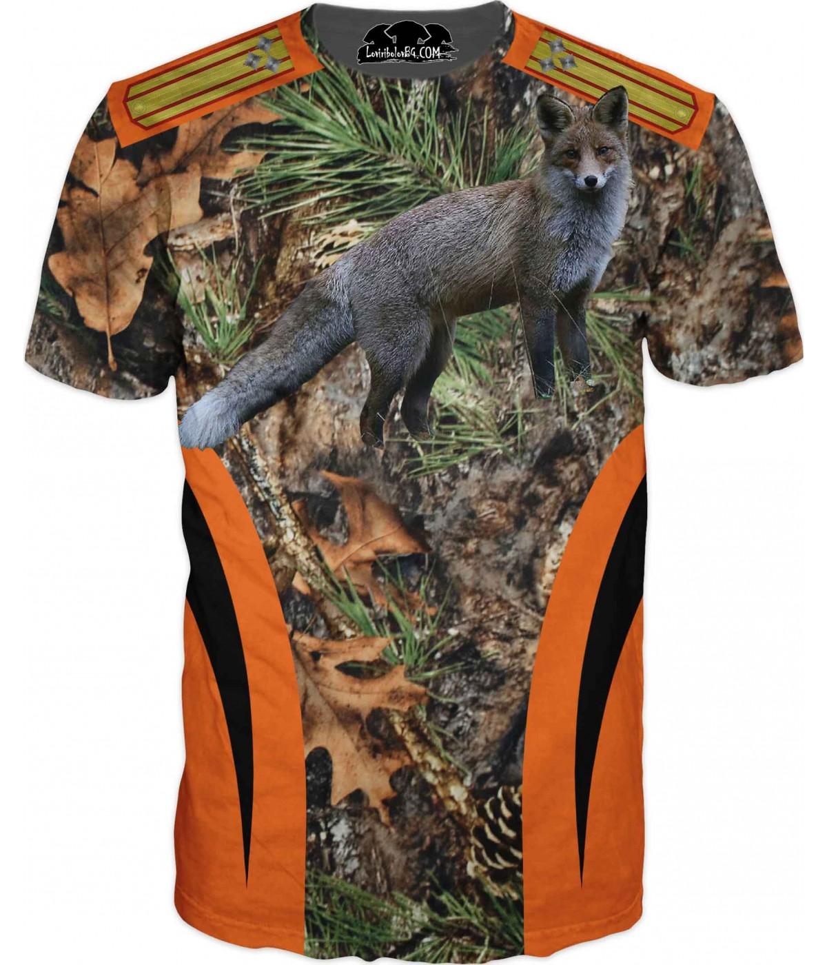 Ловна тениска - Лисица - всеки добър ловец със звание - пагони
