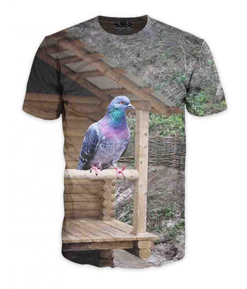 Ловна тениска с гълъб