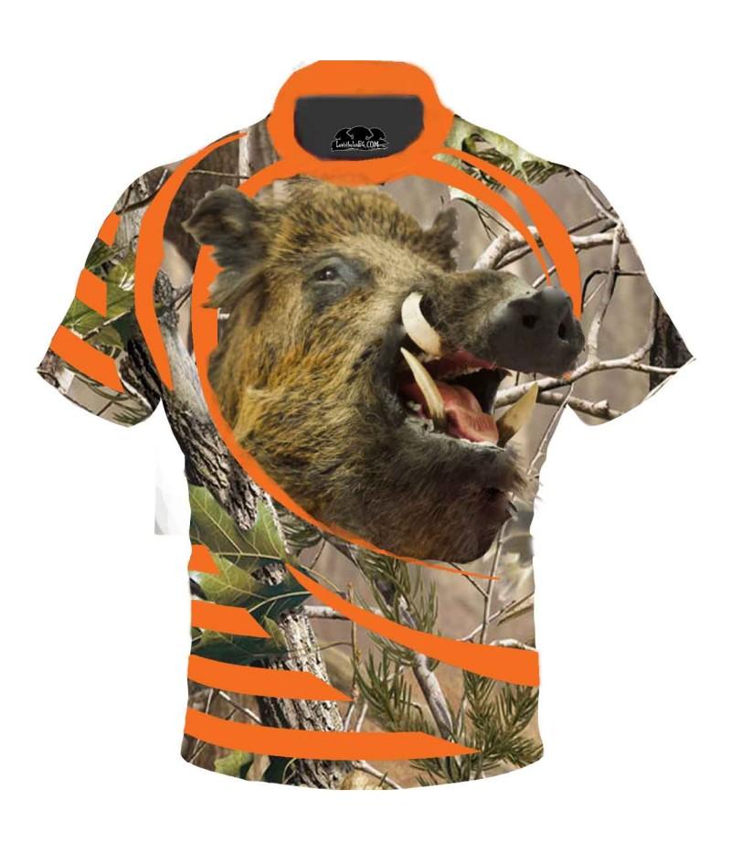 Ловна тениска с глава на глиган
