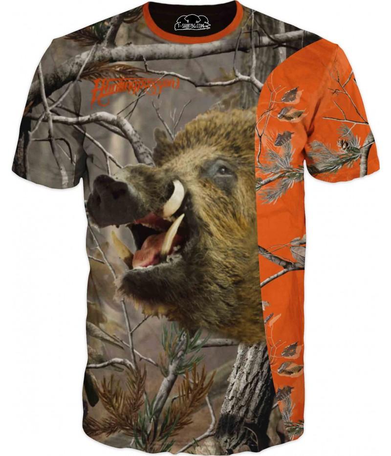 Тениска с глиган на камуфлаж
