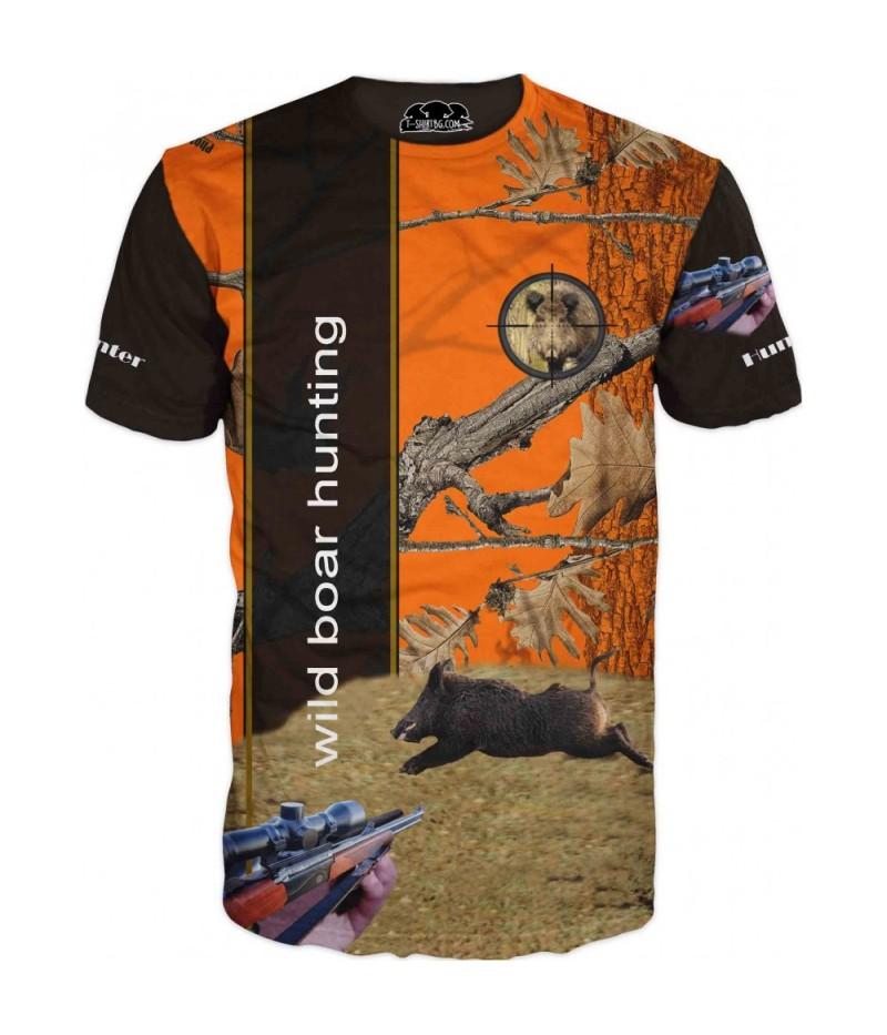 Ловна тениска - Диво прасе в камуфлаж
