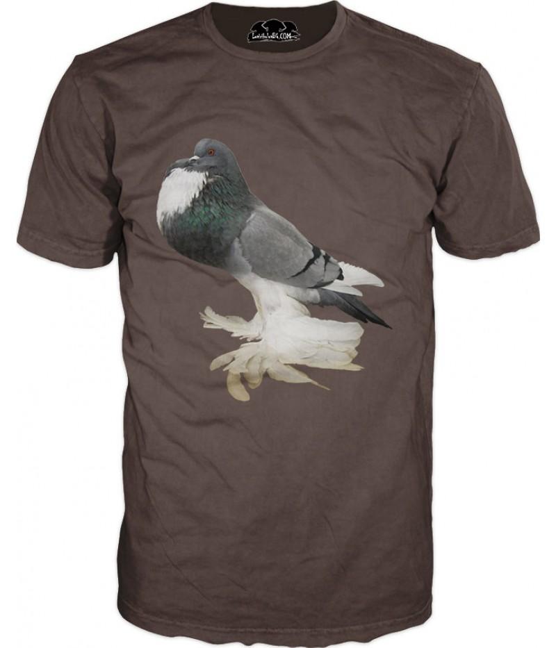 Тениска с гълъб