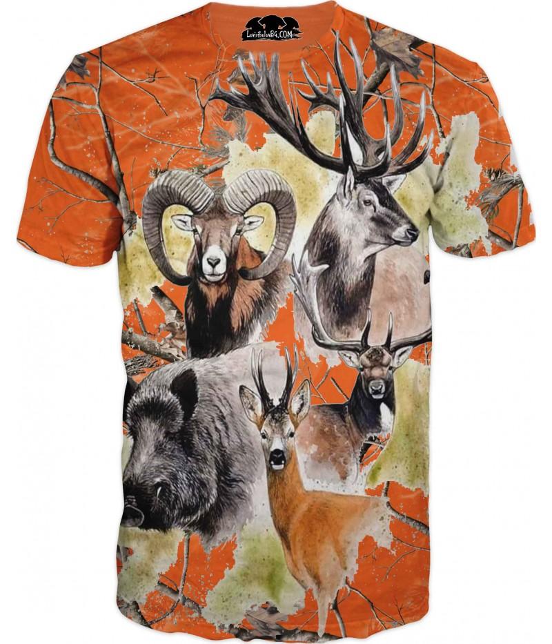 Ловна тениска - животни в камуфлаж