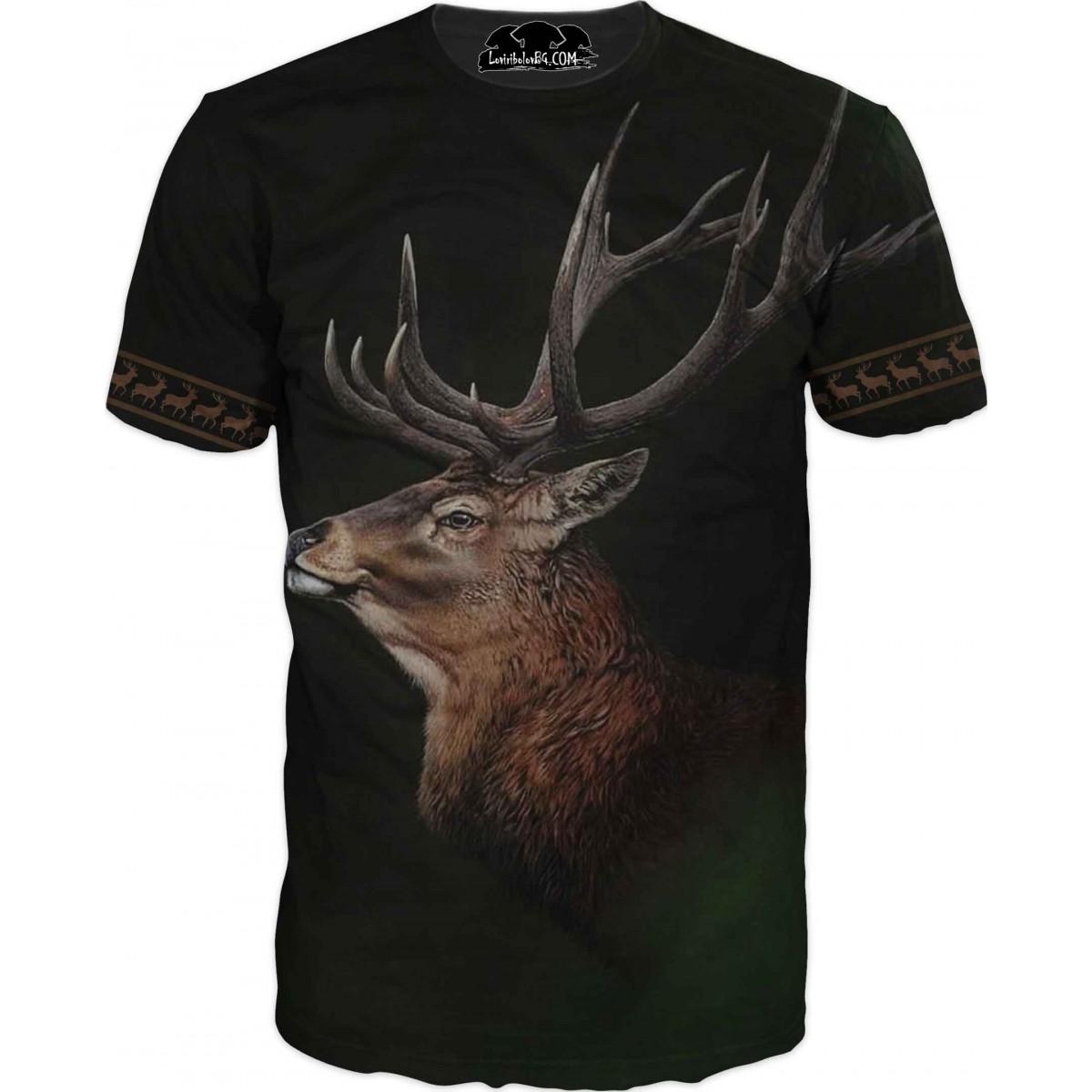 Ловна нтениска на елен с големи рога