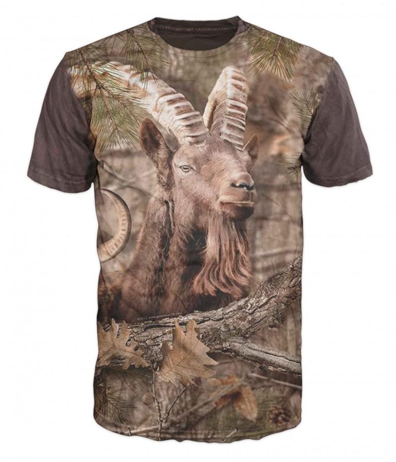 Ловна тениска с козирог и камуфлаж