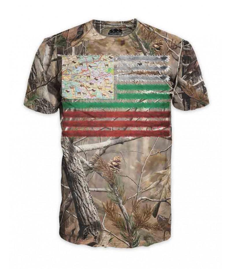 Тениска с ловните полета на България
