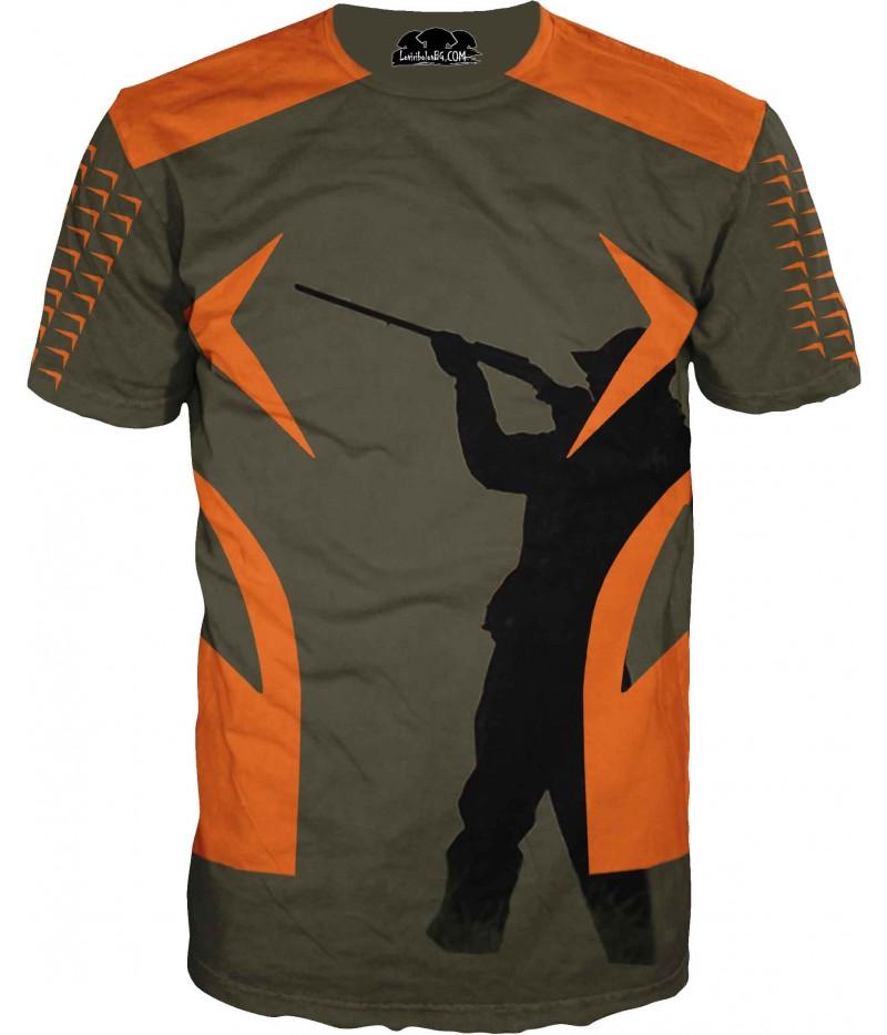 Ловна тениска - ловец в силует