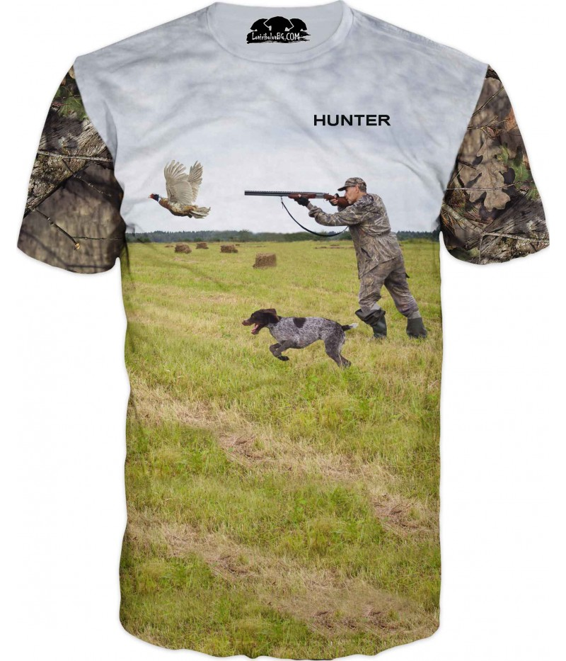 Тениска със стрелящ ловец по патица