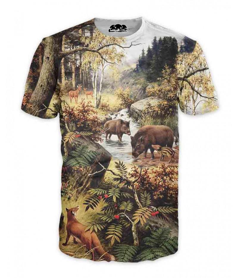 Ловна тениска с животни - рисунка