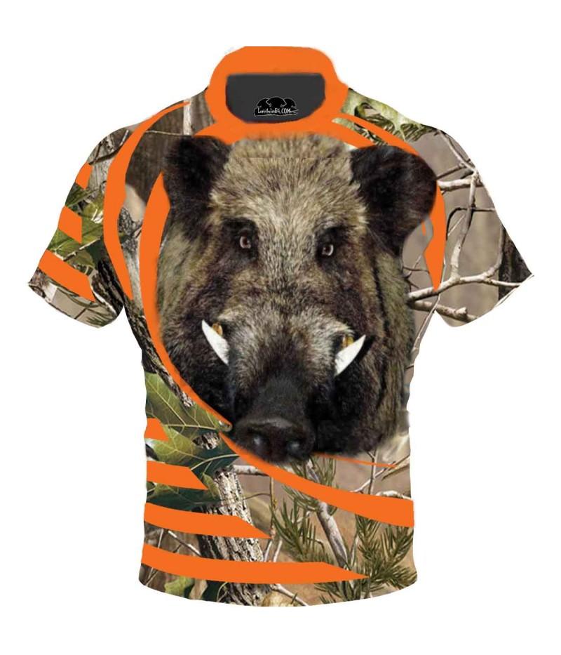 Ловна тениска - глава на глиган с бивни