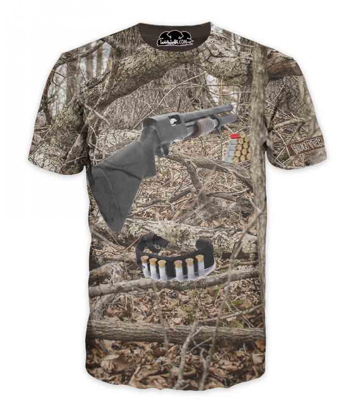 Ловна тениска пушка и камуфлаж