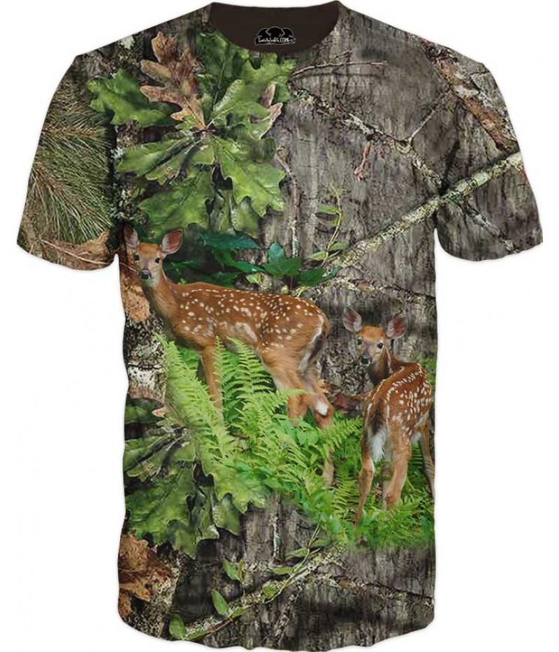 Мъжка камуфлажна тениска със сърна
