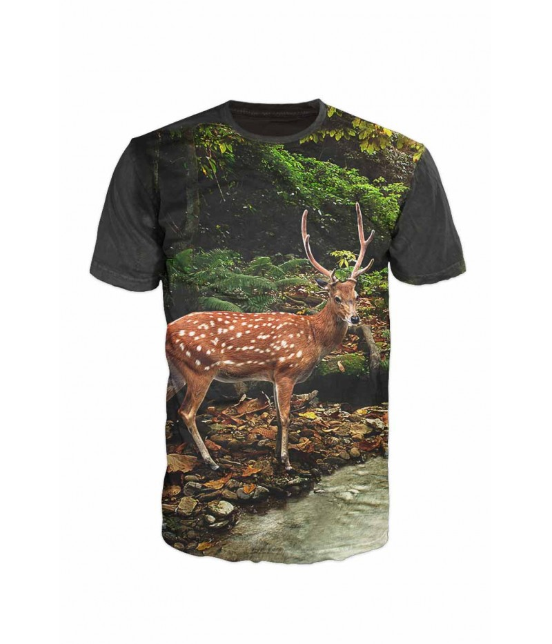 Ловна тениска със сърна