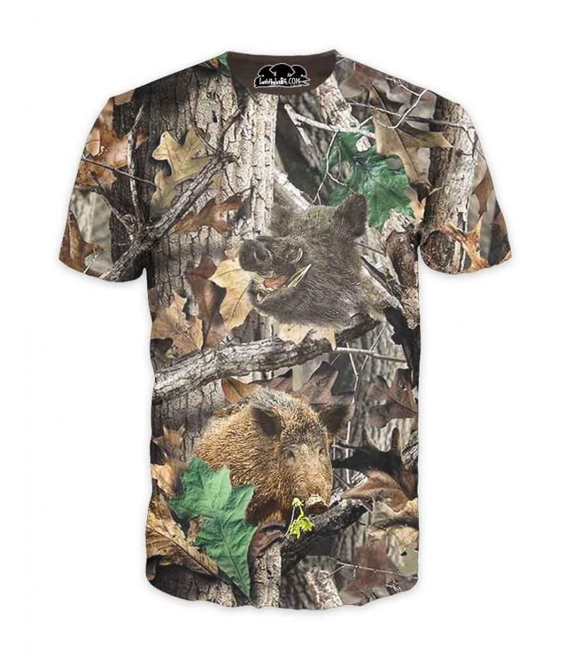Ловна тениска с камуфлаж и глигани