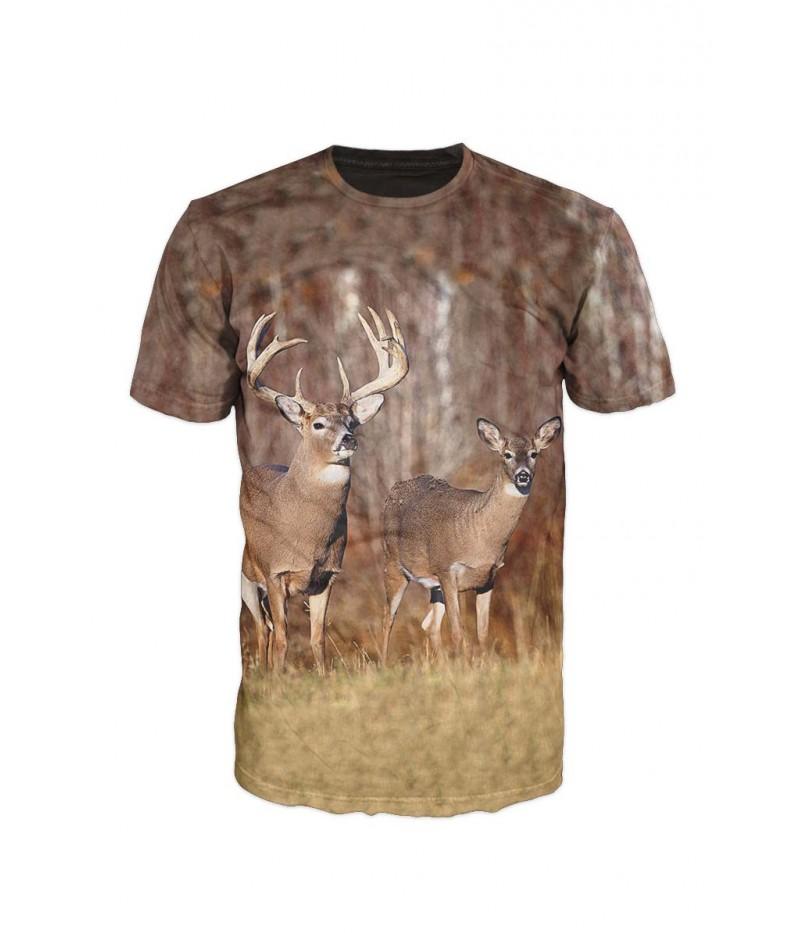Ловна тениска с елени