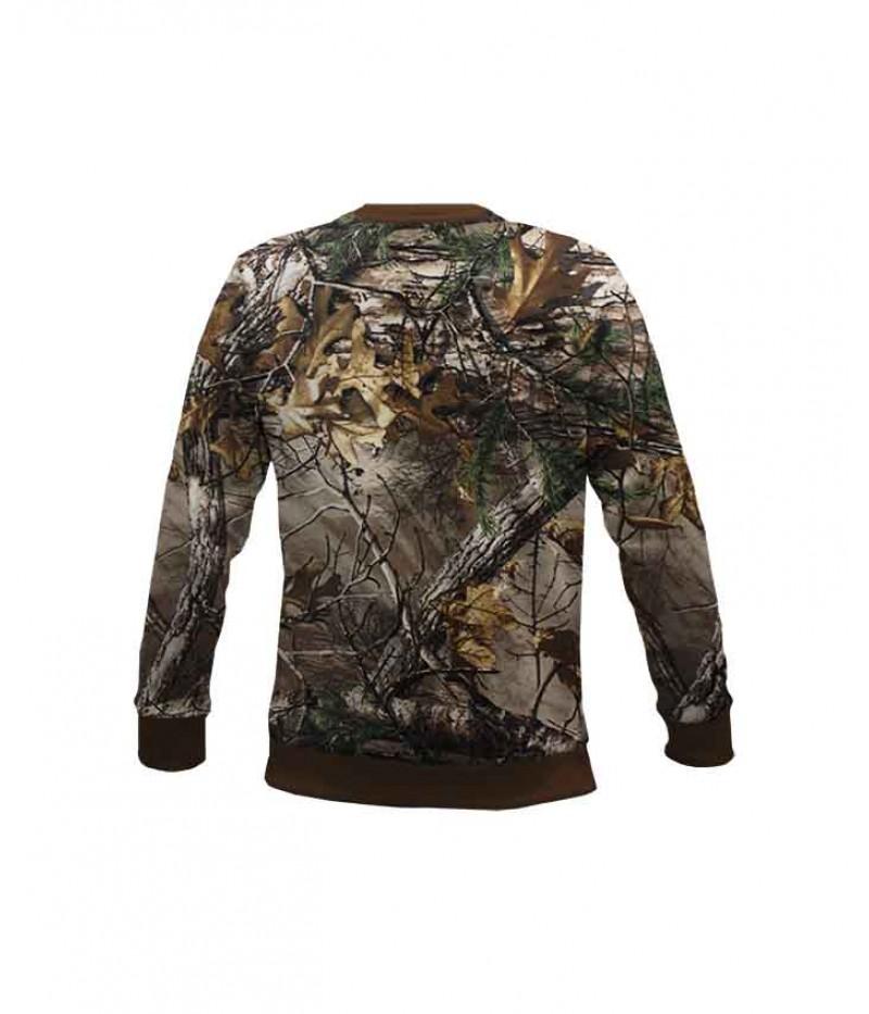 Ловна ватирана блуза с лисица и камуфлаж