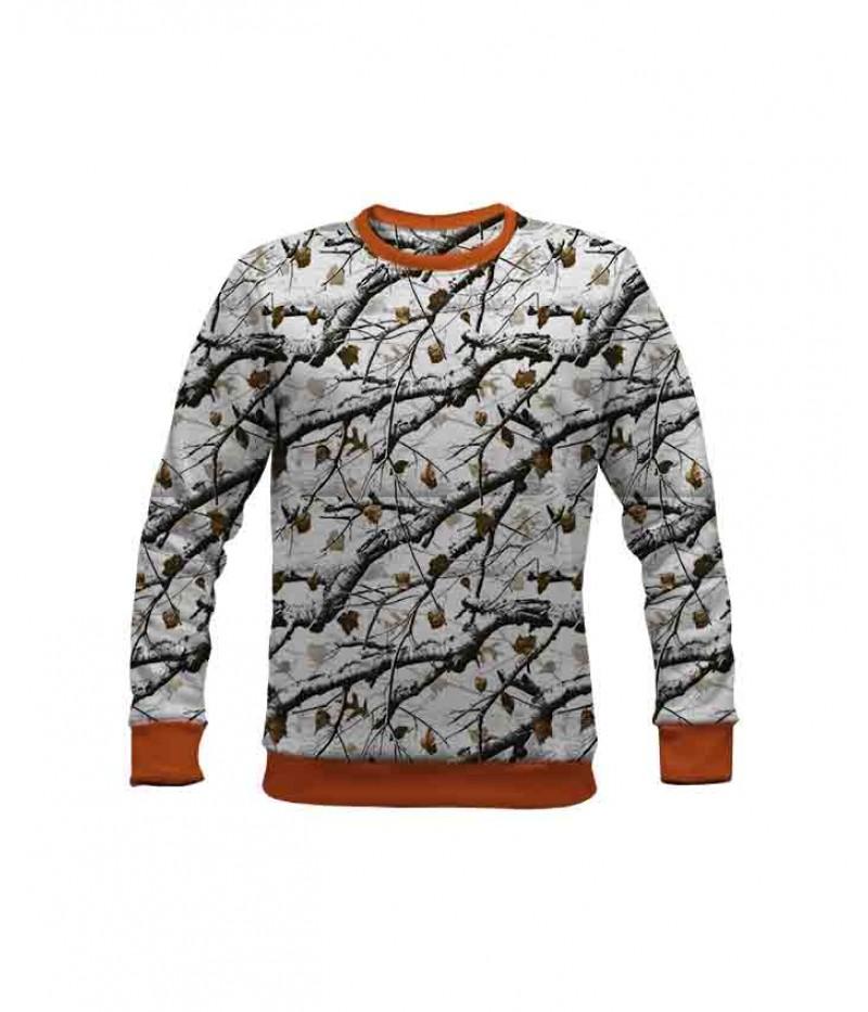 Ловна ватирана блуза снежен камуфлаж