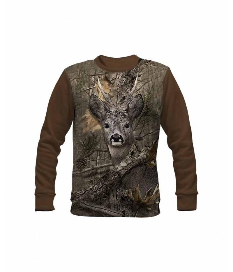 Ловна ватирана блуза със сърна