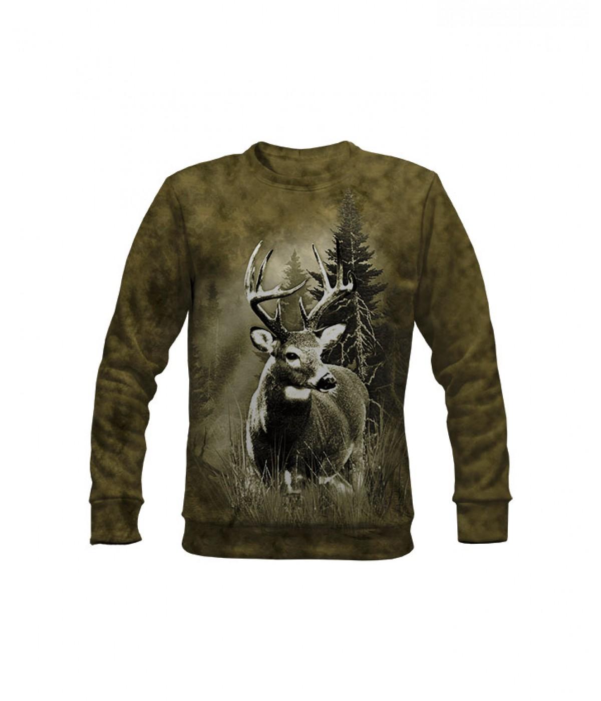 Ловна ватирана блуза с елен-зелена