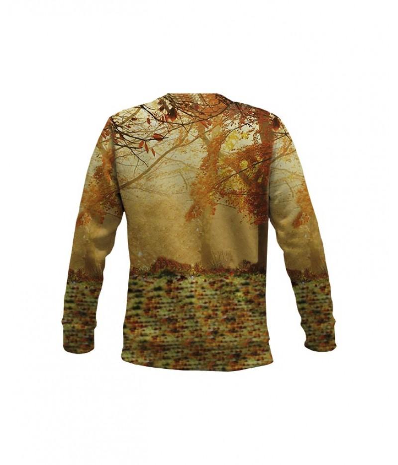 Ловна ватирана блуза с елени-есен