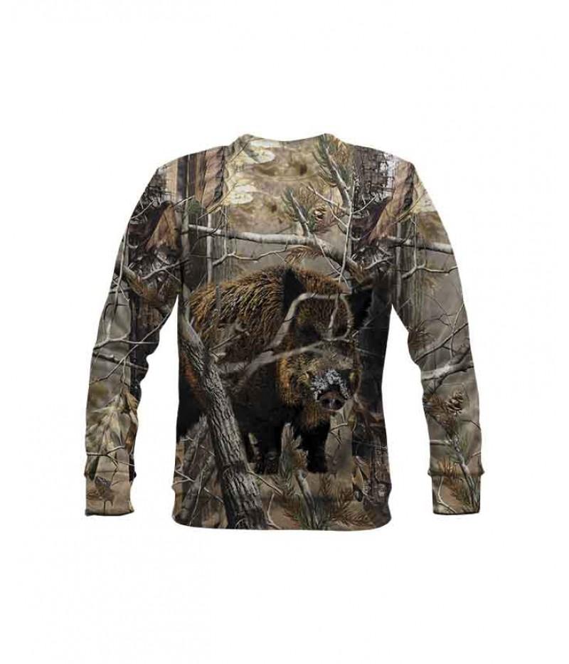 Ловна ватирана блуза с глиган със сняг