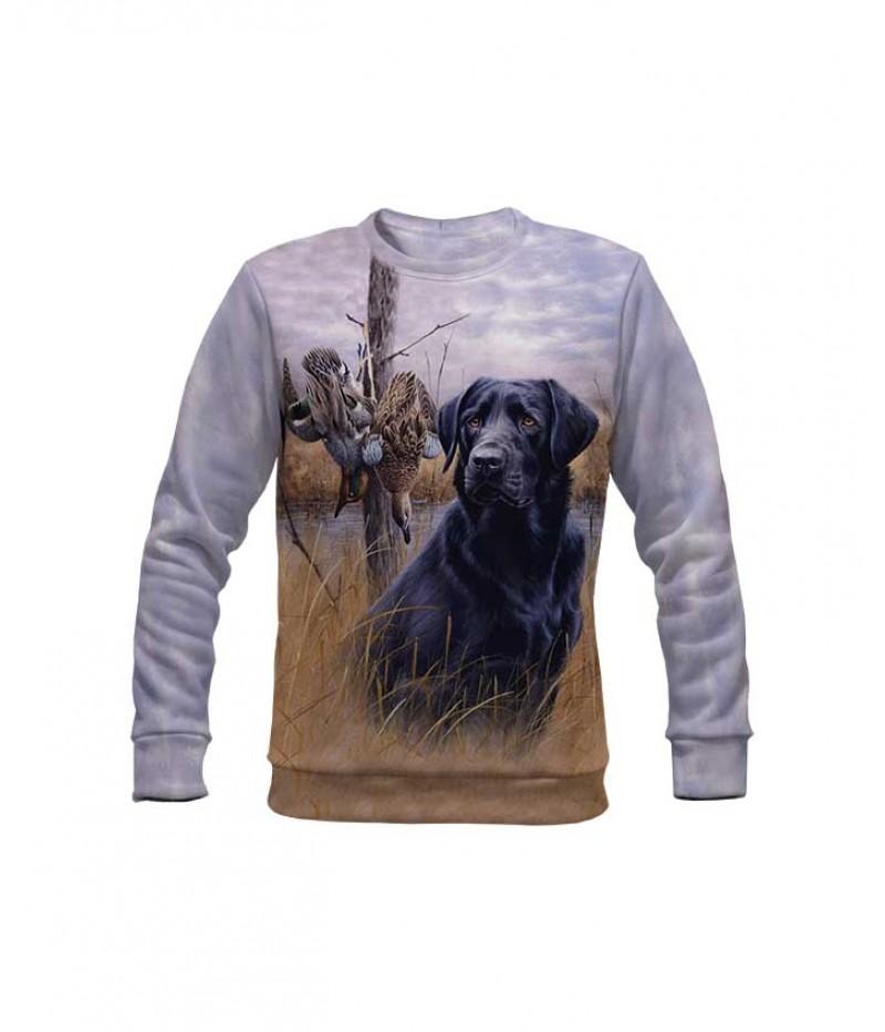 Ловна ватирана блуза с куче и патици