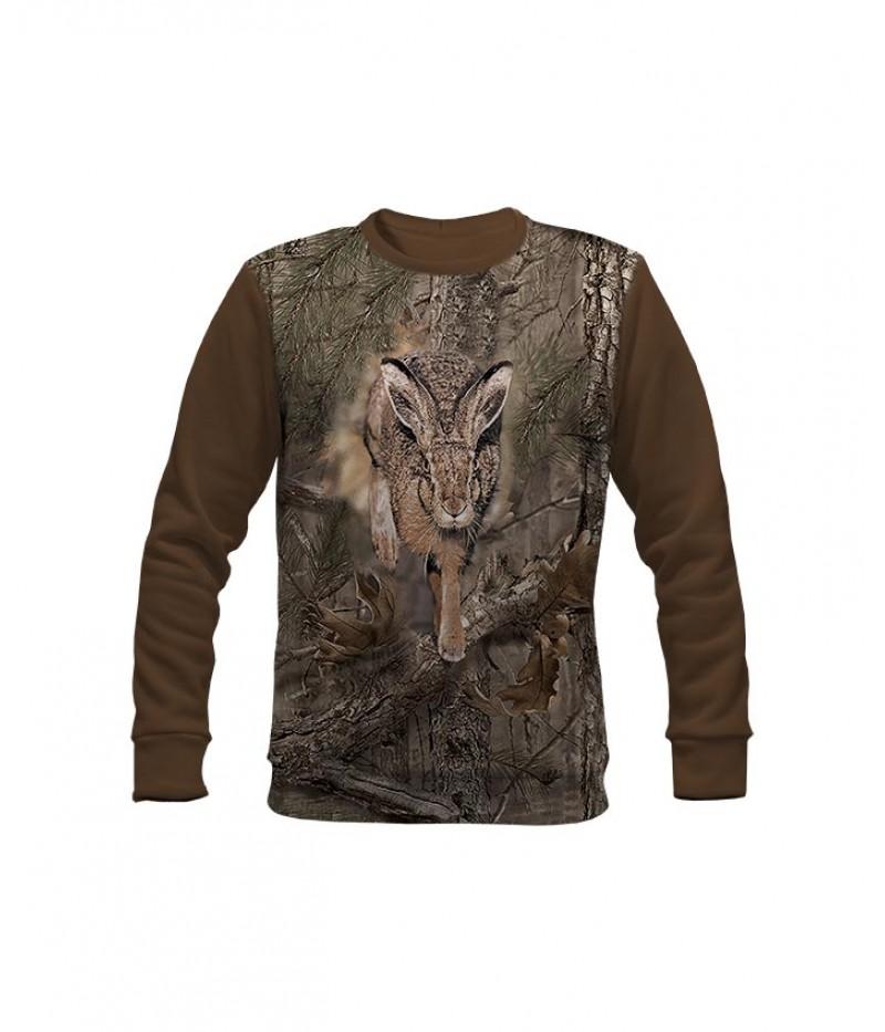 Ловна ватирана блуза със заек