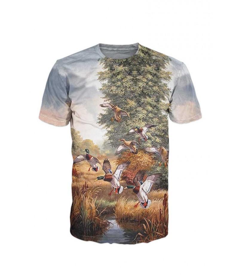 Ловна тениска с диви патици