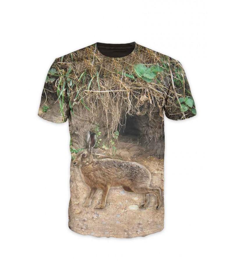 Ловна тениска със заек