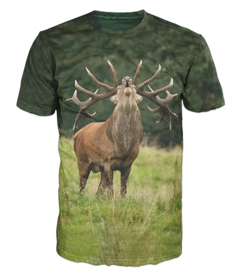 Ловна тениска с Елен с най-дългите рога