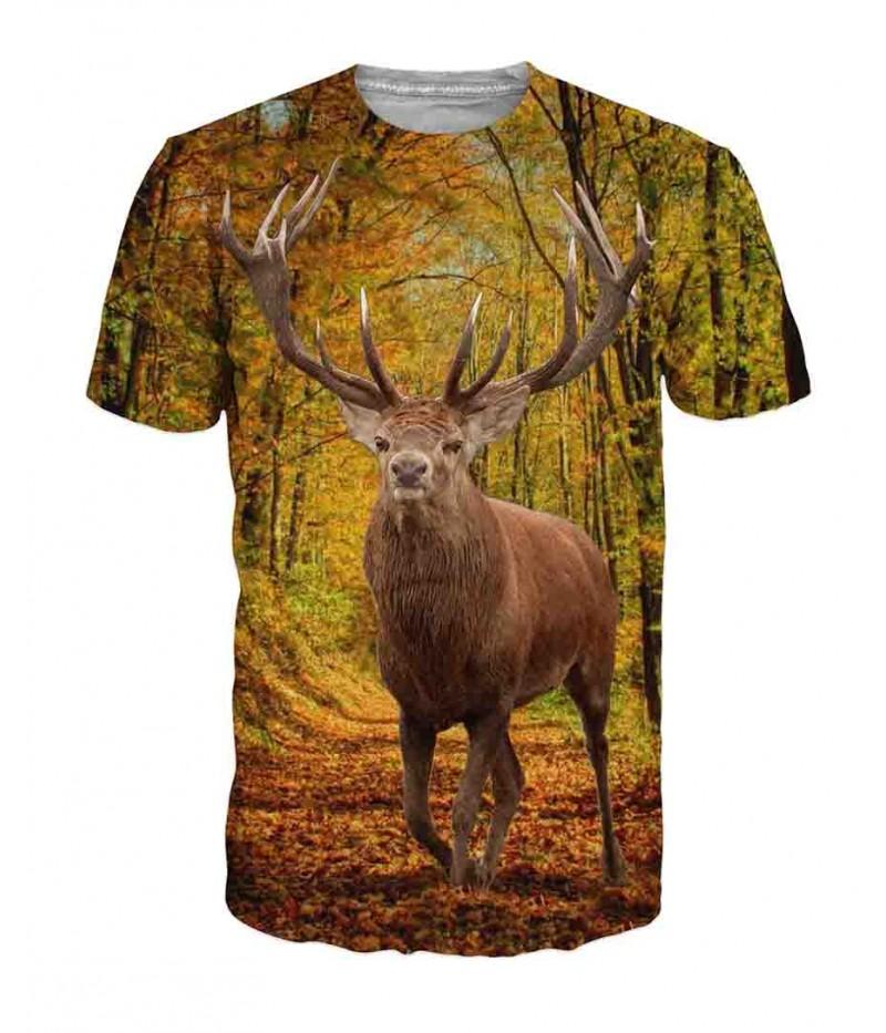 Ловна тениска с елен