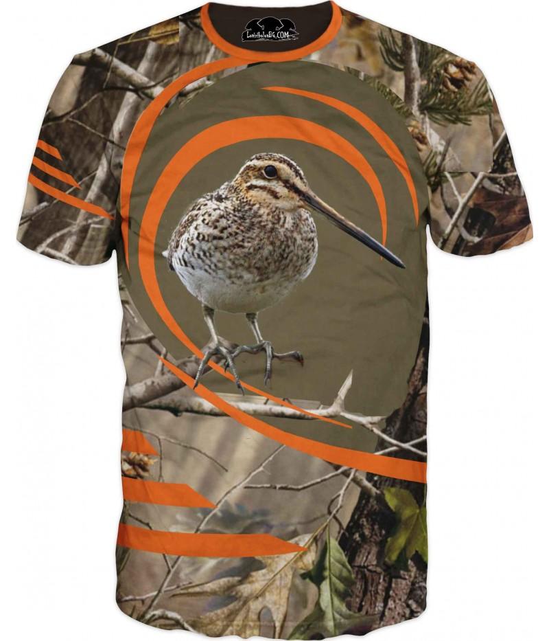 Ловна тениска с бекас