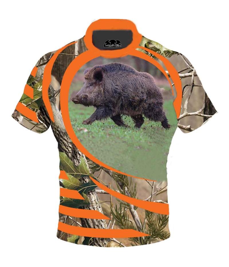 Ловна тениска на глиган в горски камуфлаж