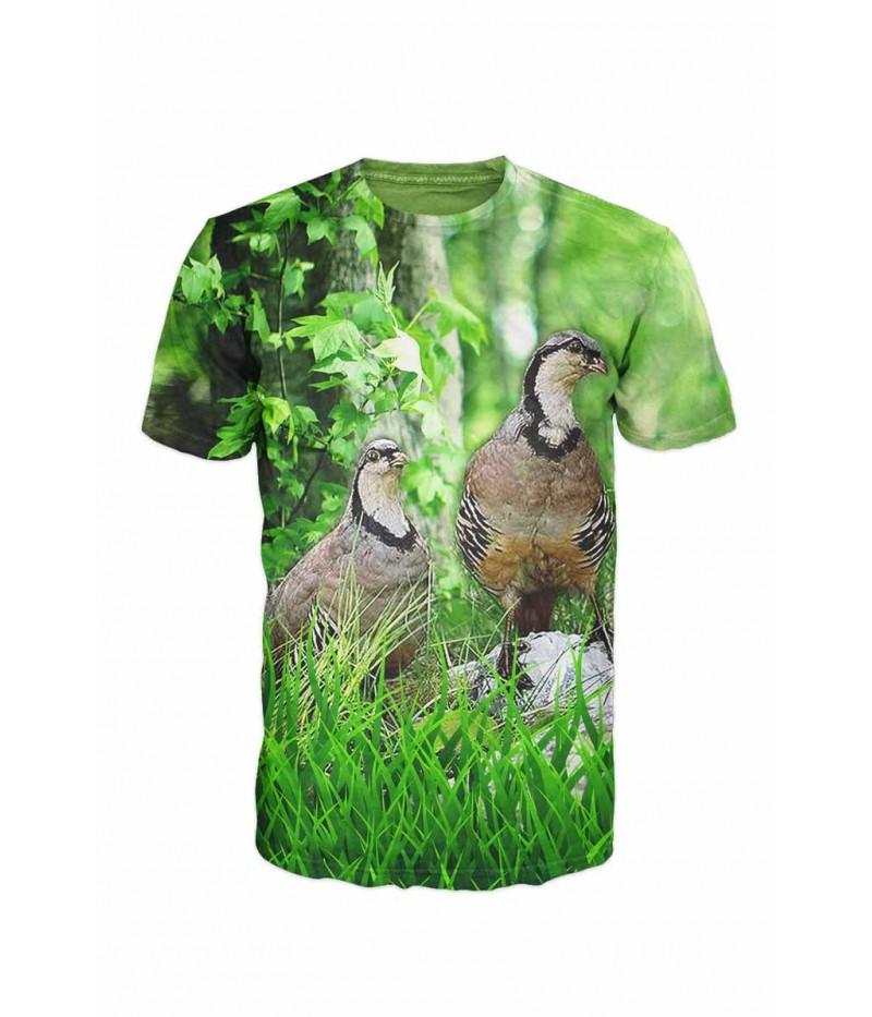 Ловна тениска със скална яребица