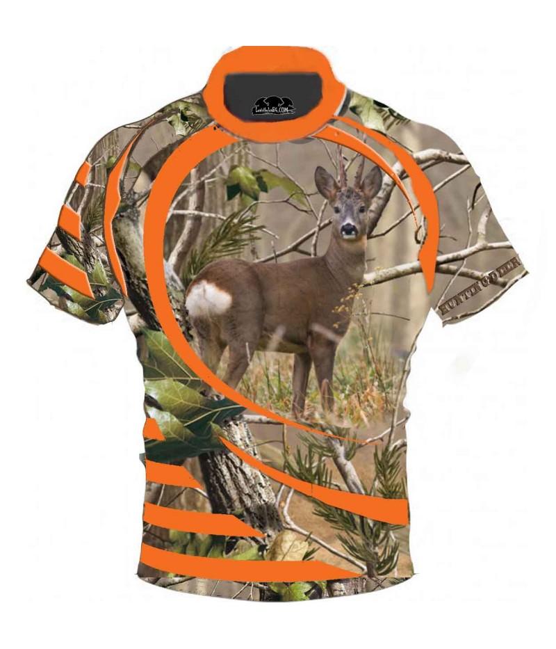 Ловна тениска със сърна - камуфлаж