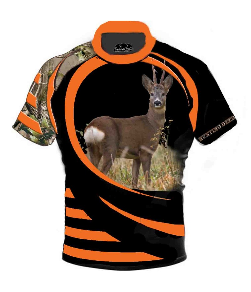 Ловна тениска със сърна - камуфлаж 2