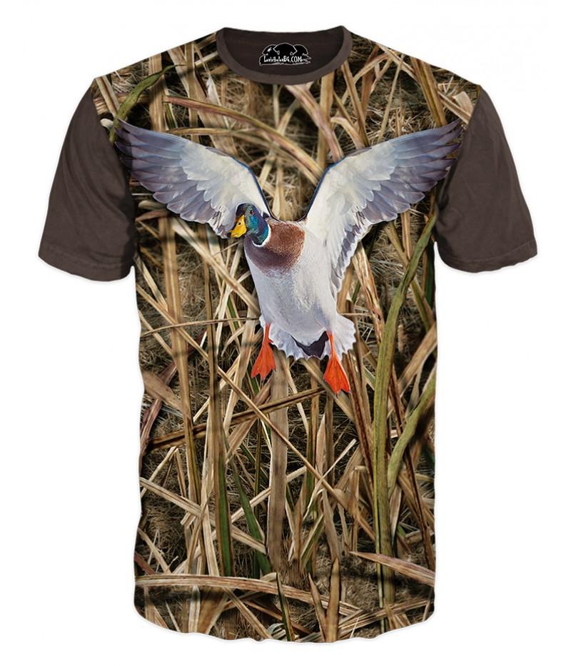 Ловна тениска с камуфлаж и патица