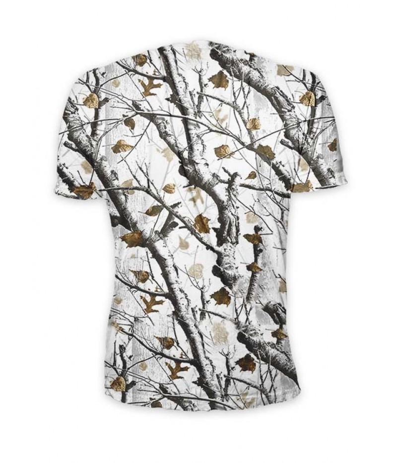 Ловна тениска с глиган и сняг камуфлаж