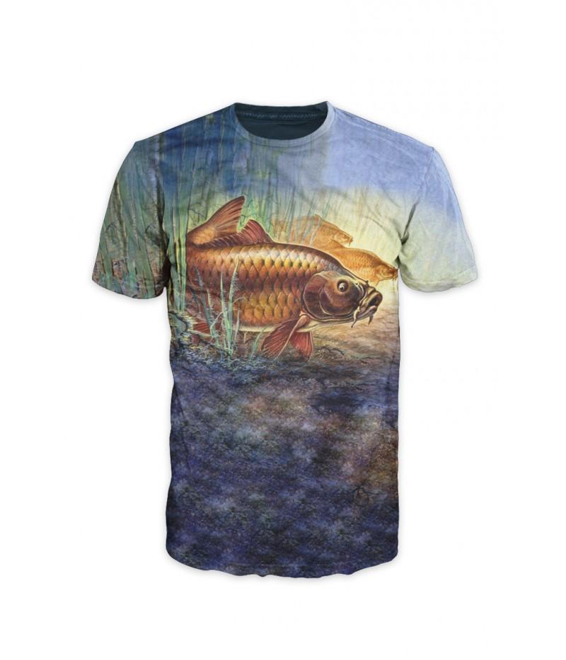 Риболовна тениска с рисува шаран