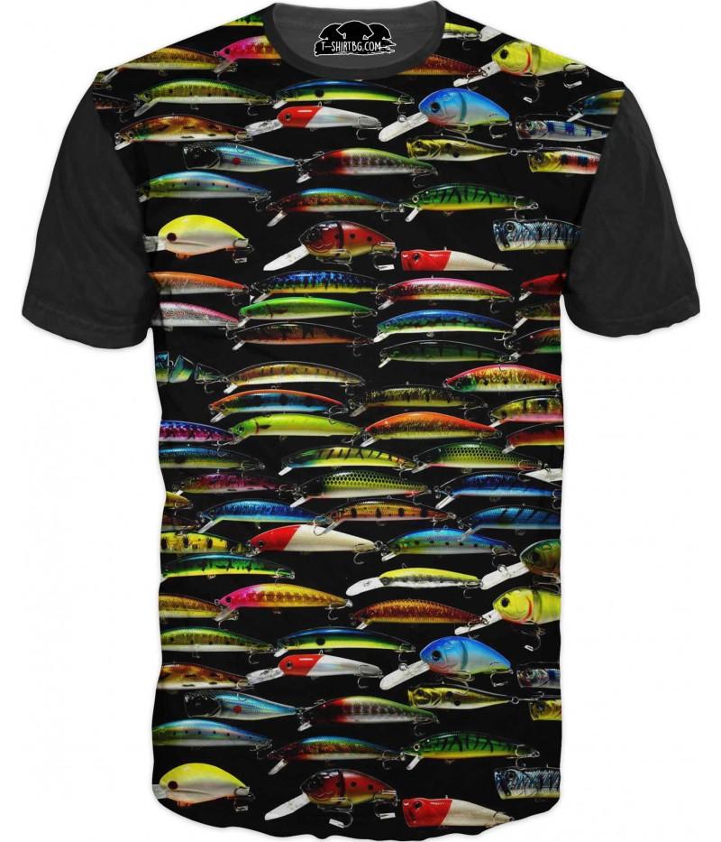 Риболовна тениска с рибки