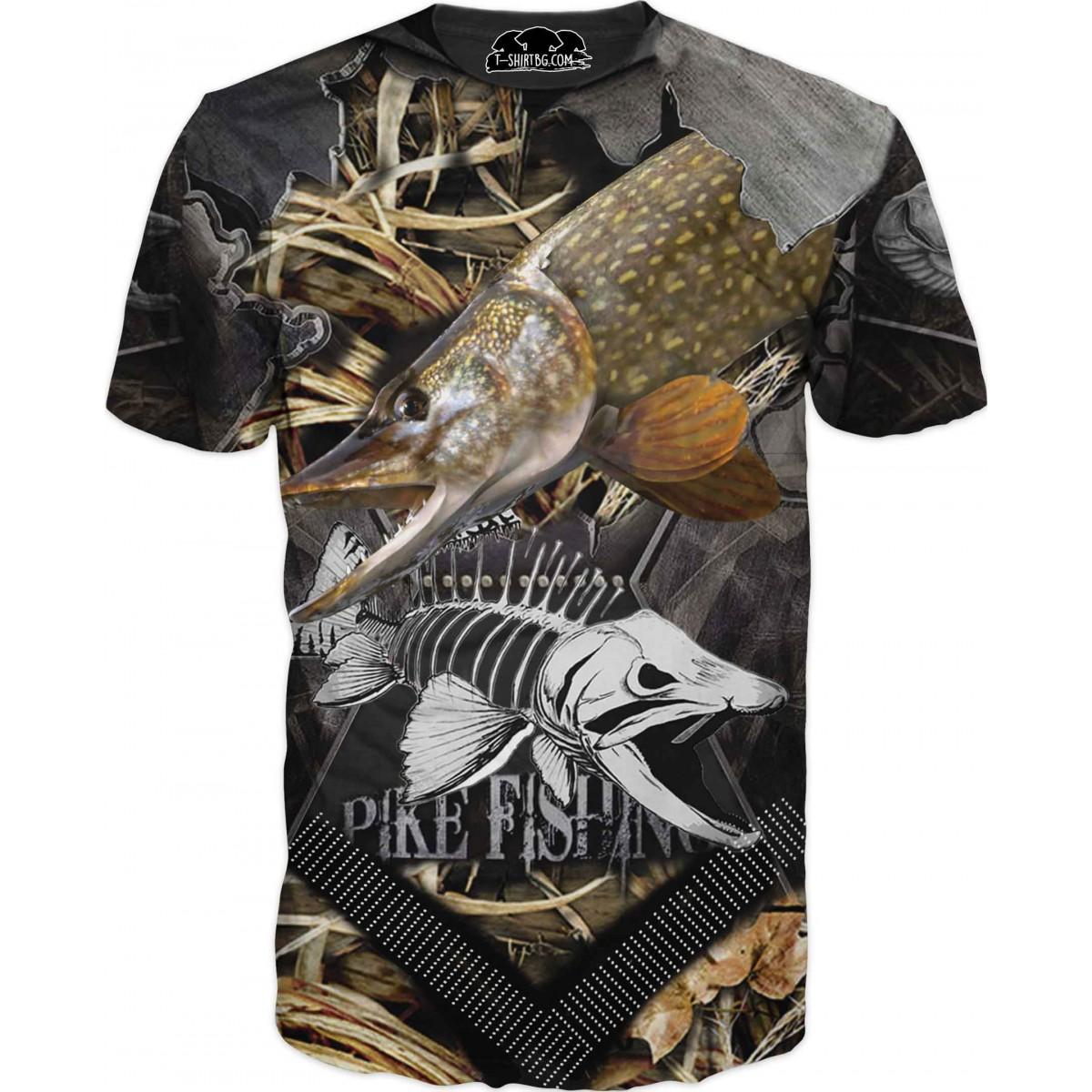 Риболовна тениска щука - скелет