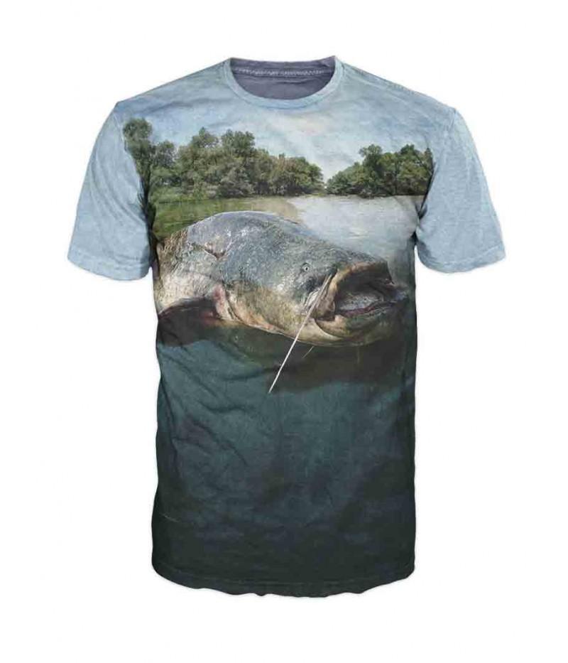 Риболовна тениска със сом