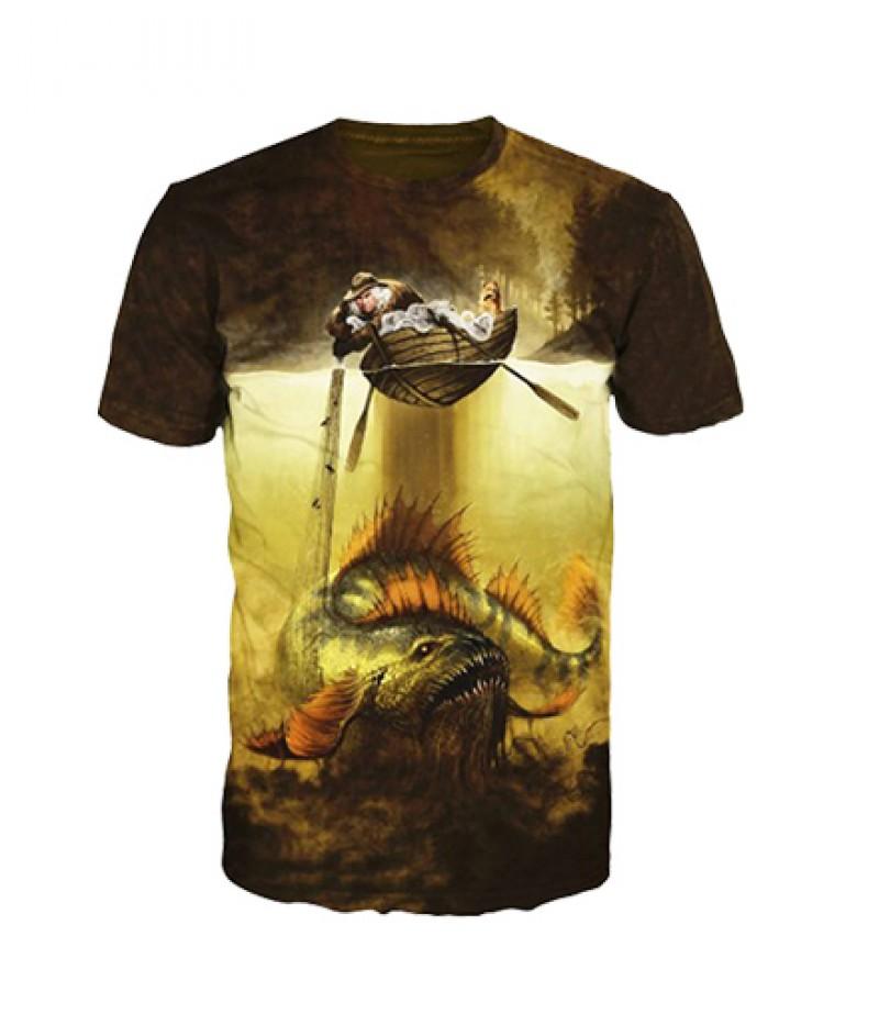 Риболовна тениска с рибар
