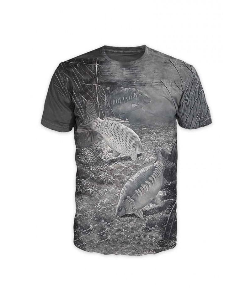 Риболовна тениска '' Чернобели шарани''