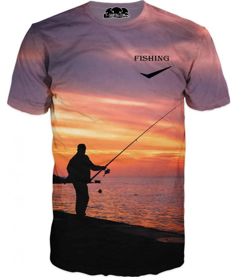 Риболовна тениска - лов на залез слънце