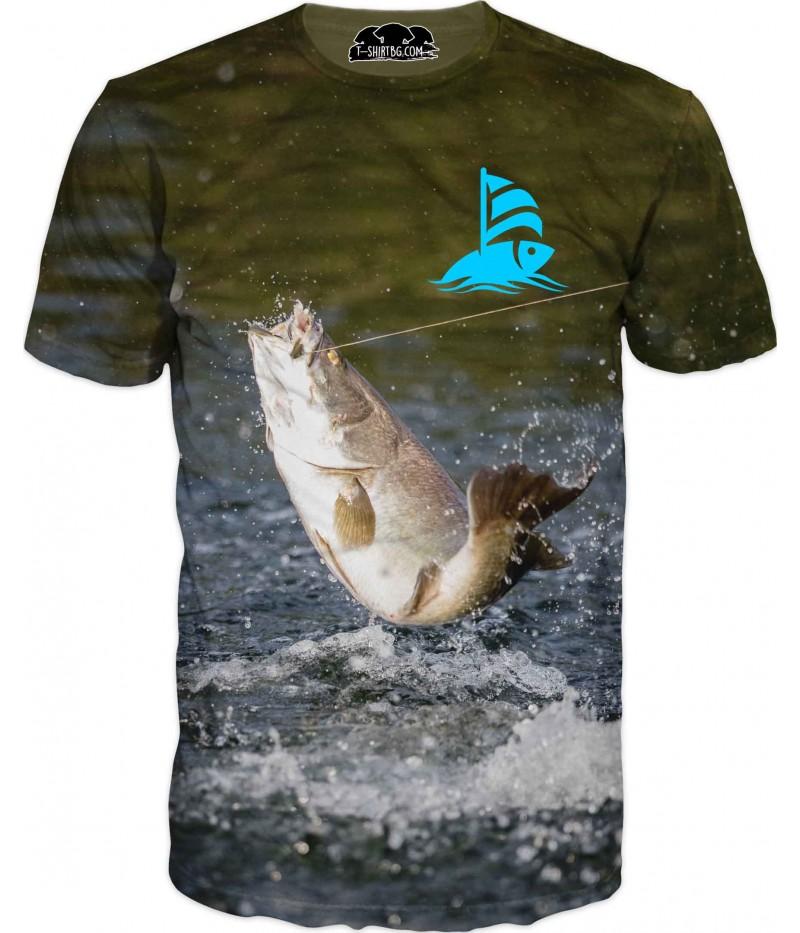 Ловна тениска - рибка