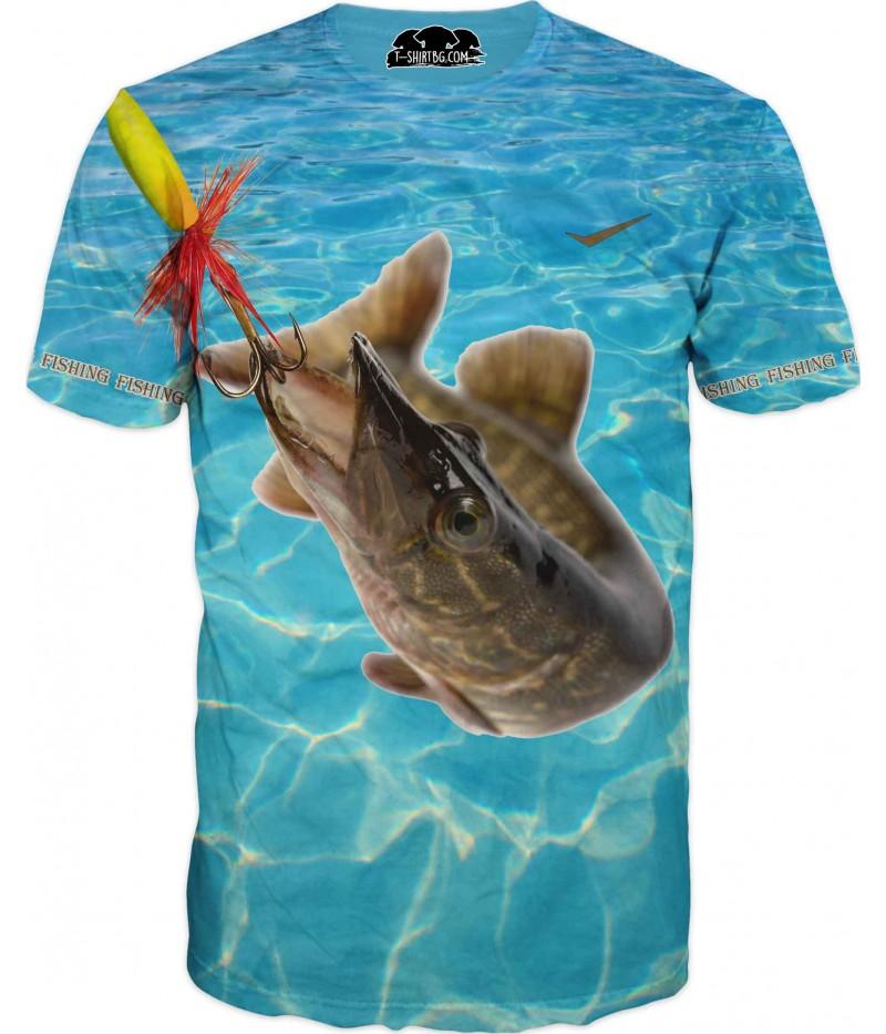 Риболовна тениска - стръв и риба